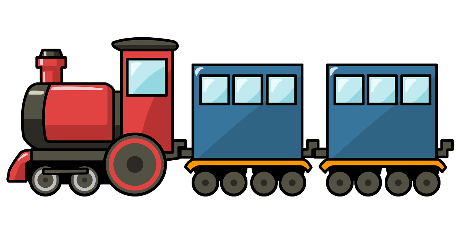 Transparent train side. Free steam clipart download