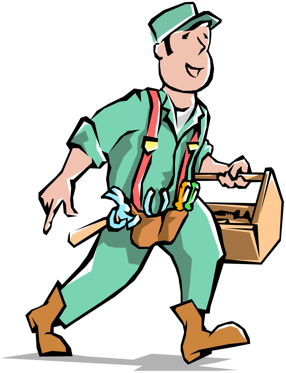 Handyman clipart pool maintenance. Engineer it support clip