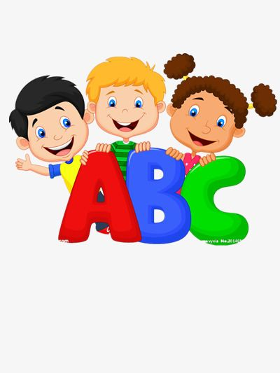 English clipart child. Children learn alphabet png