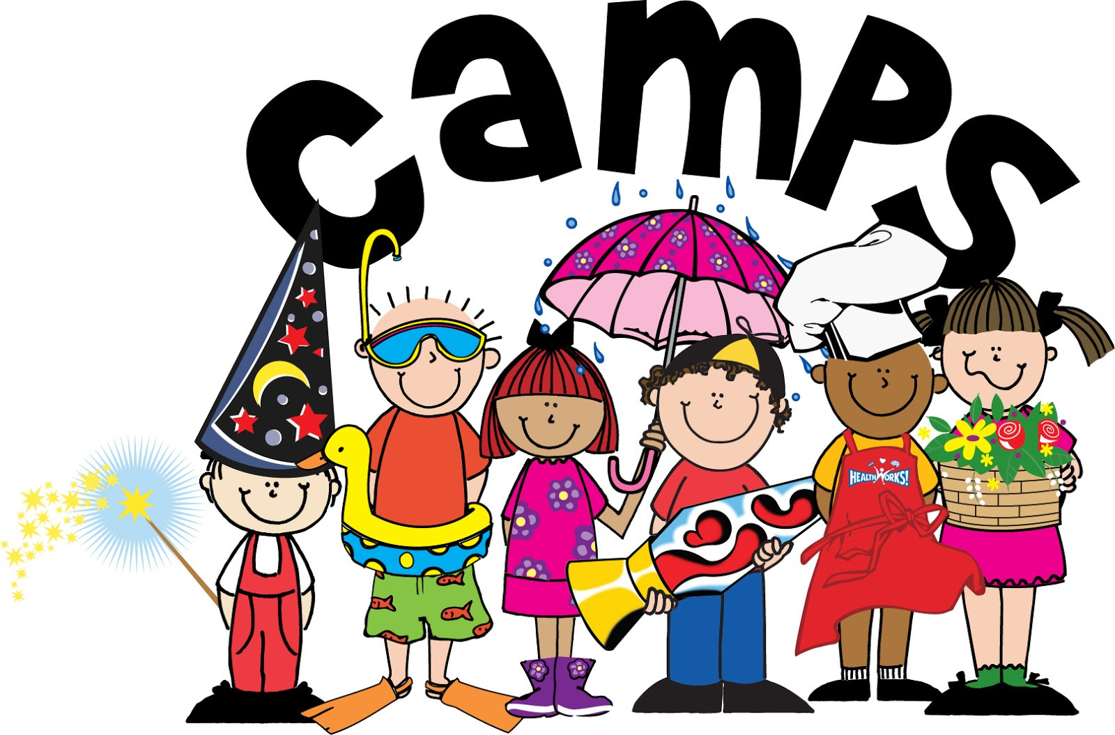 English clipart child. Summer camps for children