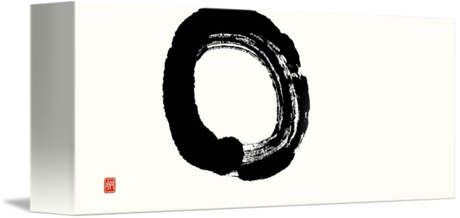 Enlightenment drawing beginner. Enso circle unfolding by