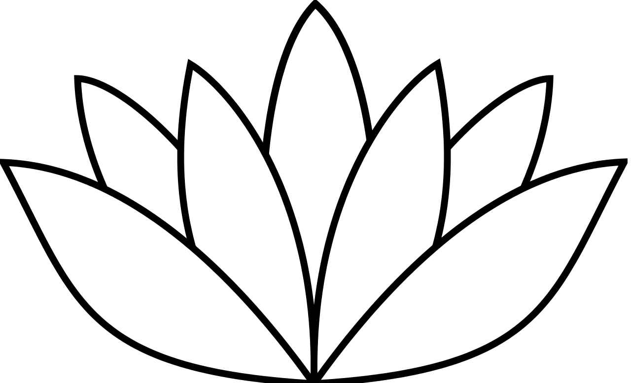 Enlightenment drawing bloom. Simple flower how to