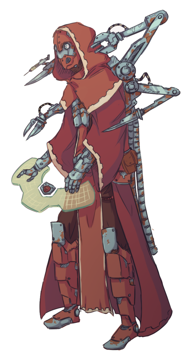 Ruins drawing sci fi. Tech priest by thepixelpuffin
