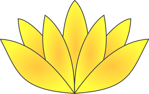 Enlightenment drawing lotus. Gold a symbol of