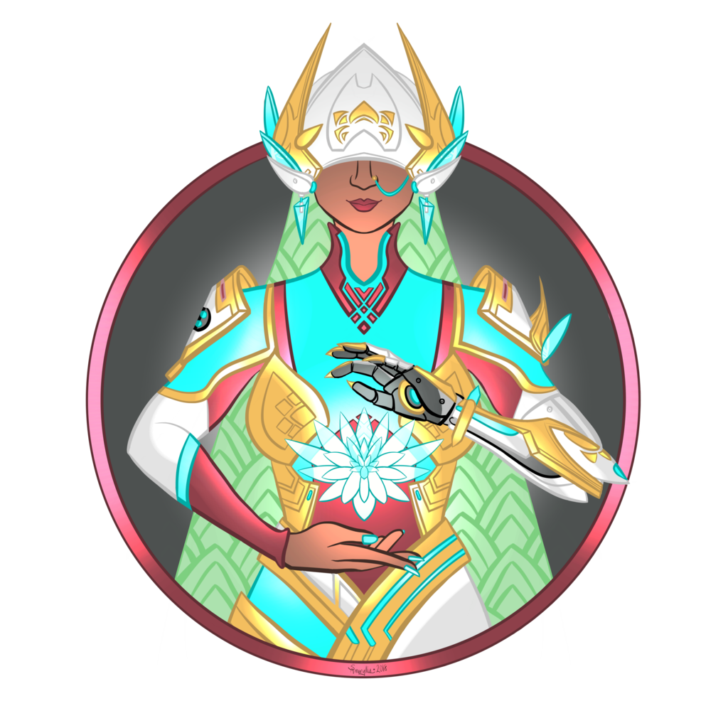 Enlightenment drawing peace. Overwatch by samaryllis on