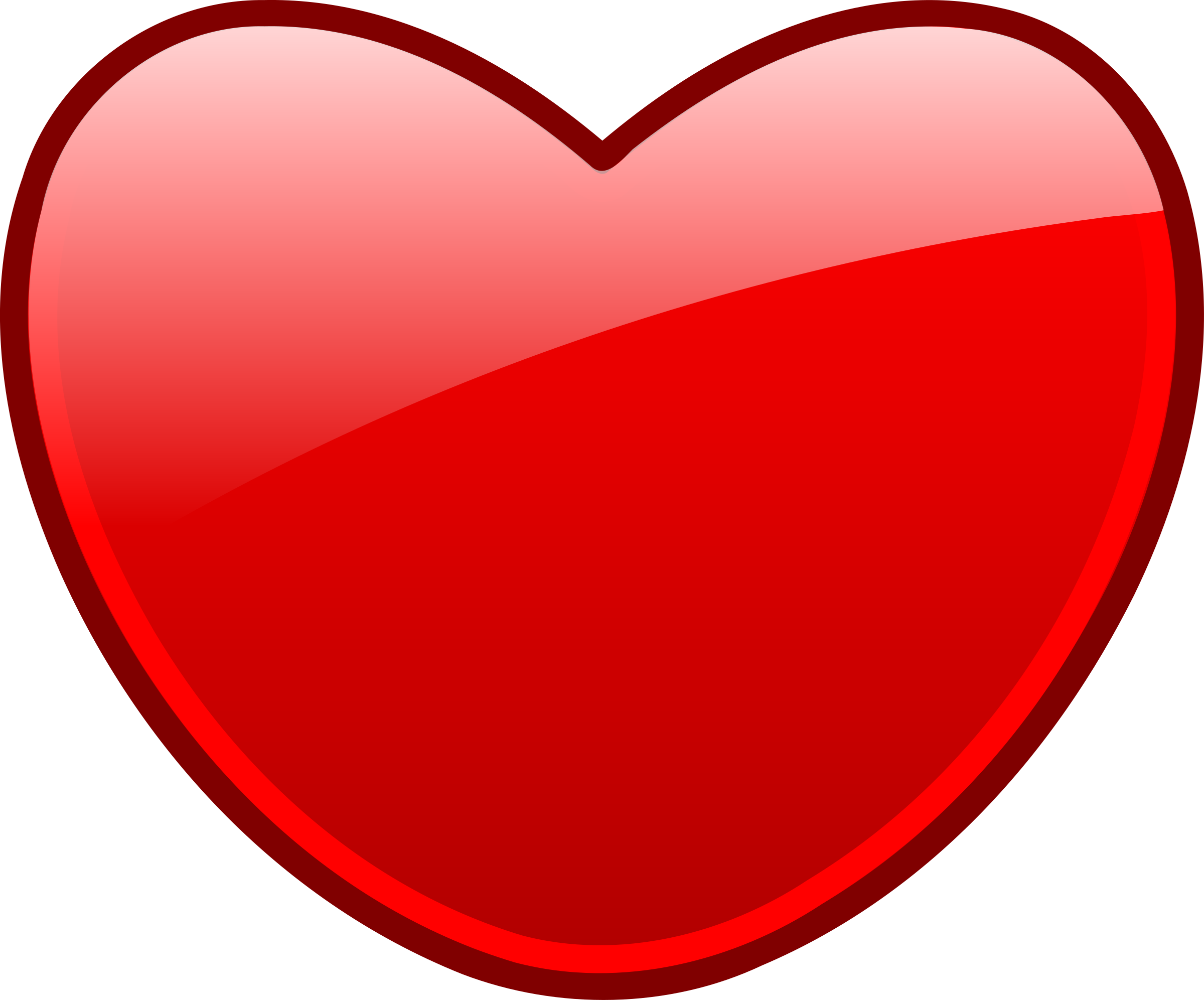 Vector envelope heart. Free open icon download