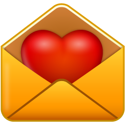 Envelope clipart heart seal. Yellow with icon png
