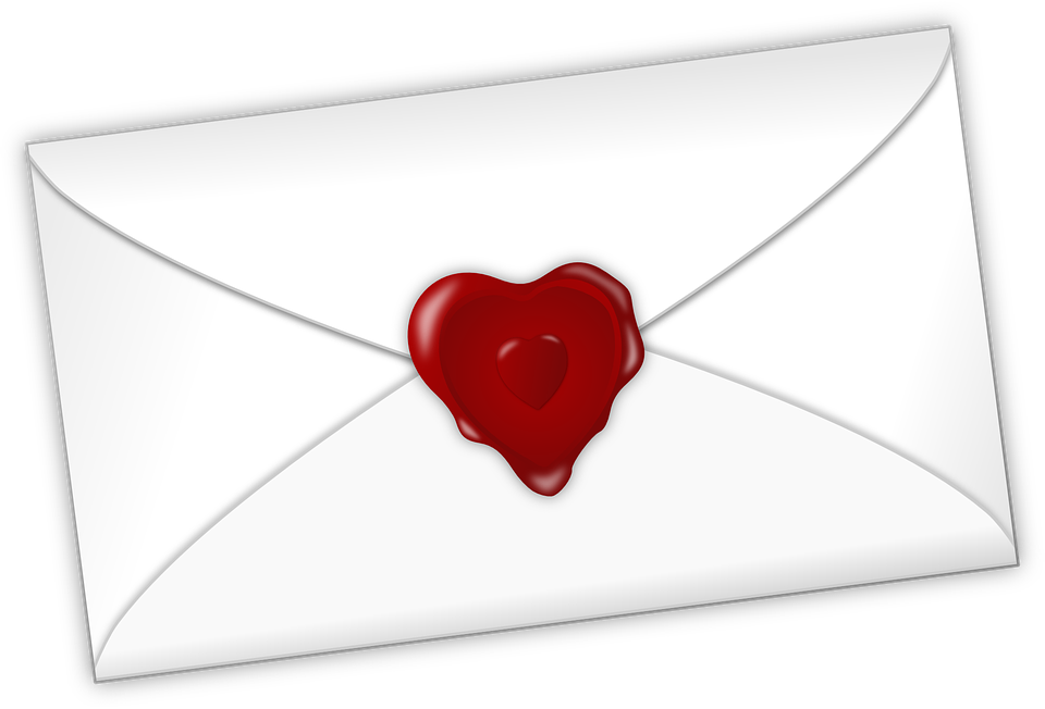 Envelope clipart heart seal. Free photo love letter
