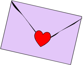 Vector envelope heart. Clipart