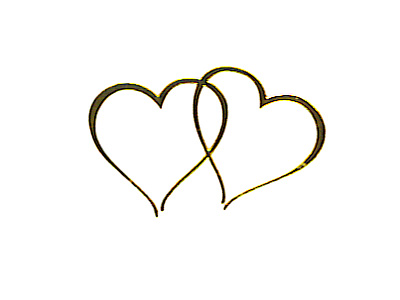 gold twin seals. Envelope clipart heart seal banner freeuse library