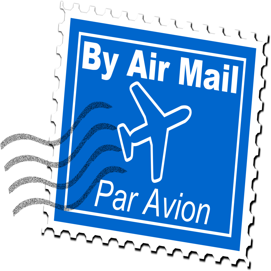Stamp clipart free travel. Overnight mail