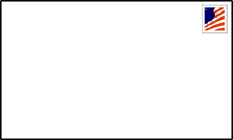 Blank transparent . Envelope clipart picture free library
