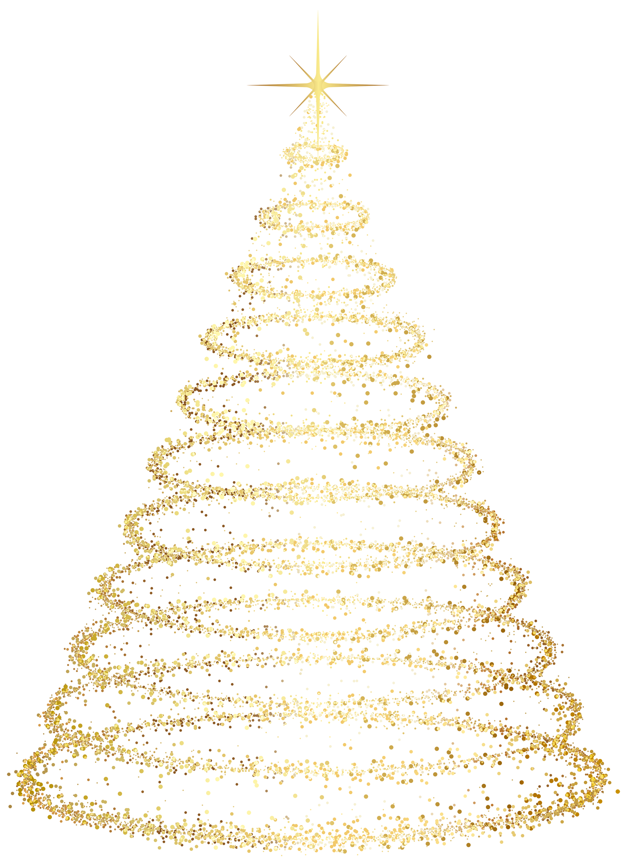 Envelope transparent christmas. Gold tree effects png