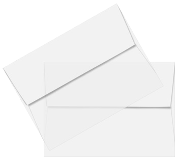 Envelope transparent clear. A sheer vellum straight