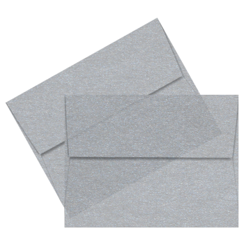 Envelope transparent clear. A silver iridescent vellum