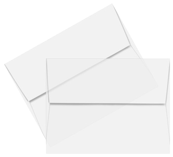 Envelope transparent closed. Translucent vellum envelopes clear