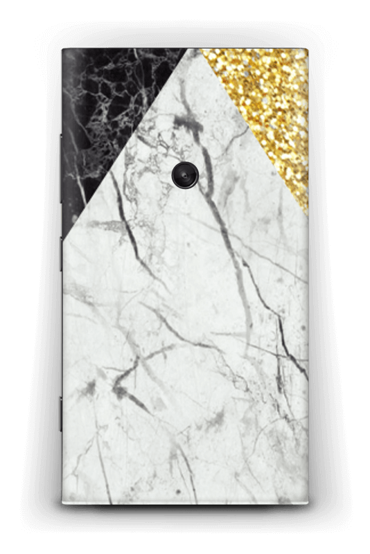 Envelope transparent marble. And gold caseapp a