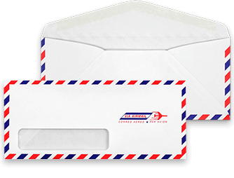 Envelope transparent packaging. Shipping mailers document fourfold