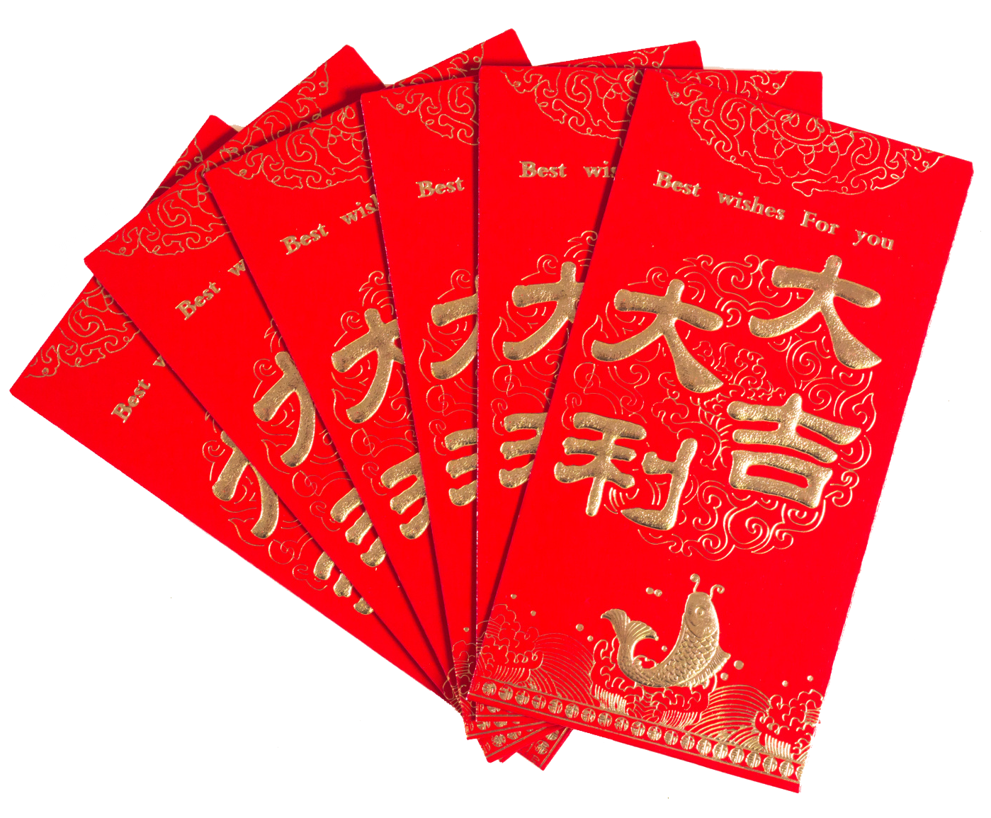 Envelope transparent red chinese. China new year luck