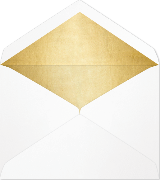 Envelope transparent foil. Heather metallic lined available