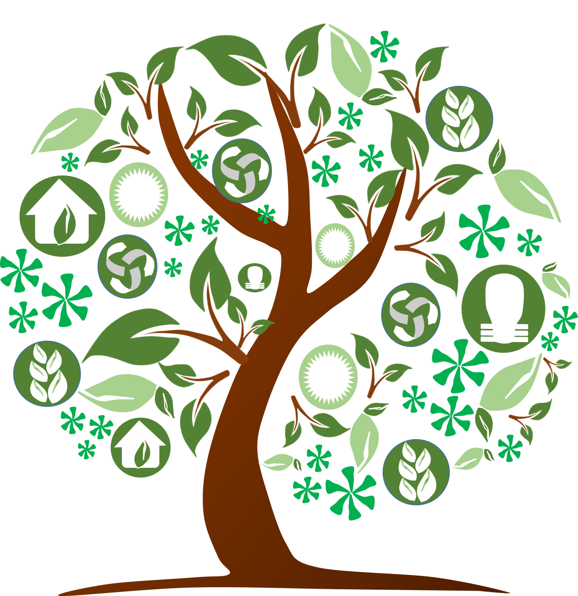 Environment vector art. Green clipart