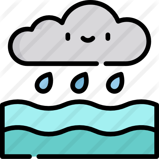 Environment vector ecosystem. Water cycle free ecology