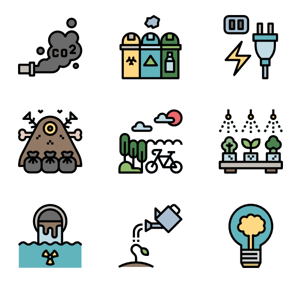 Environment vector flat design. Icon packs svg
