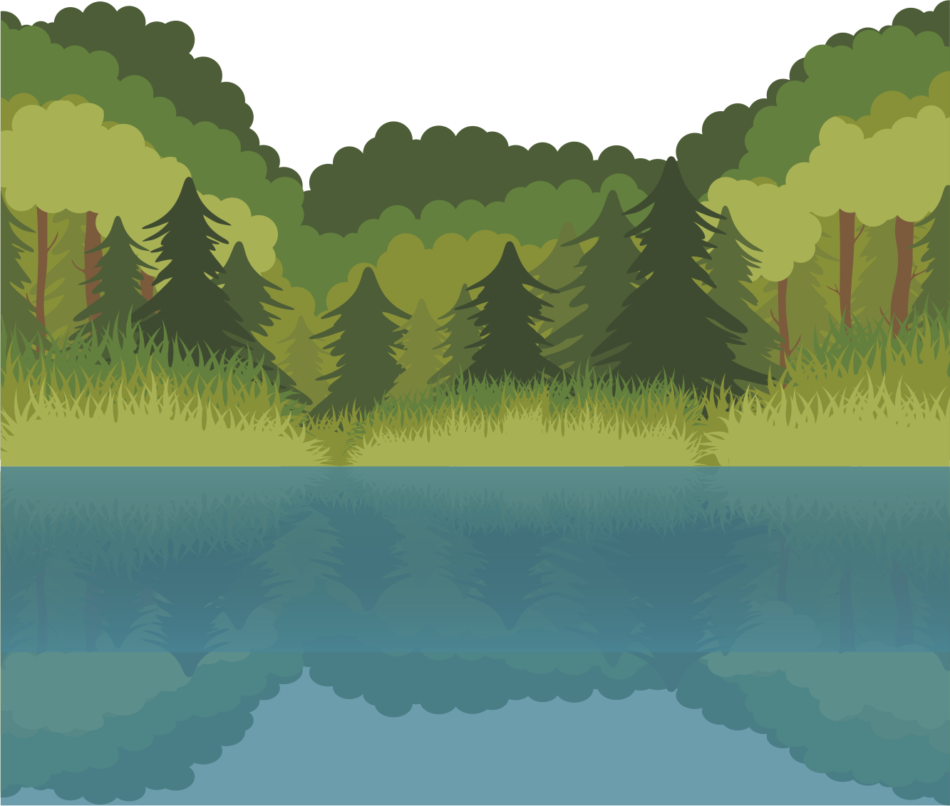 Environment vector forest. Lake euclidean transprent png