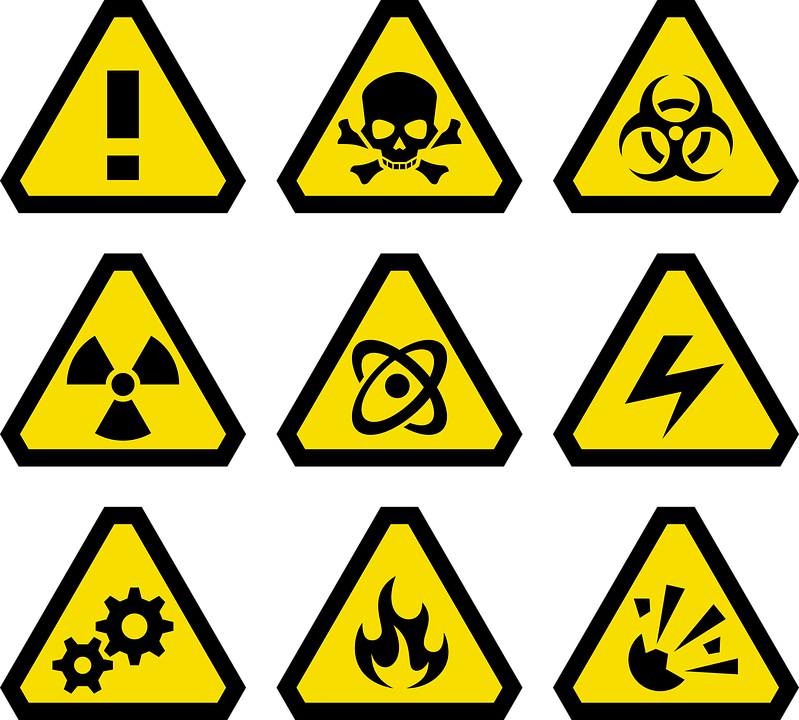 Environment vector hazard. Hazardous material business plans