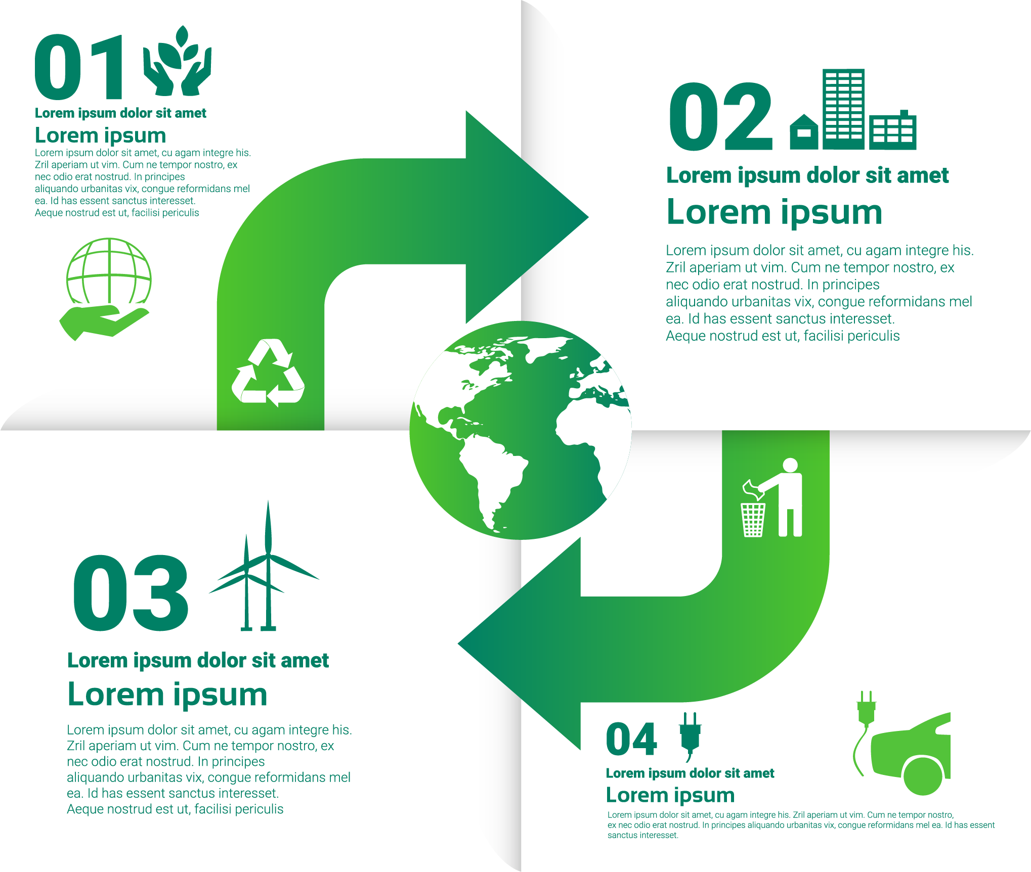 Environment vector infographic. Ecology recycling environmental protection
