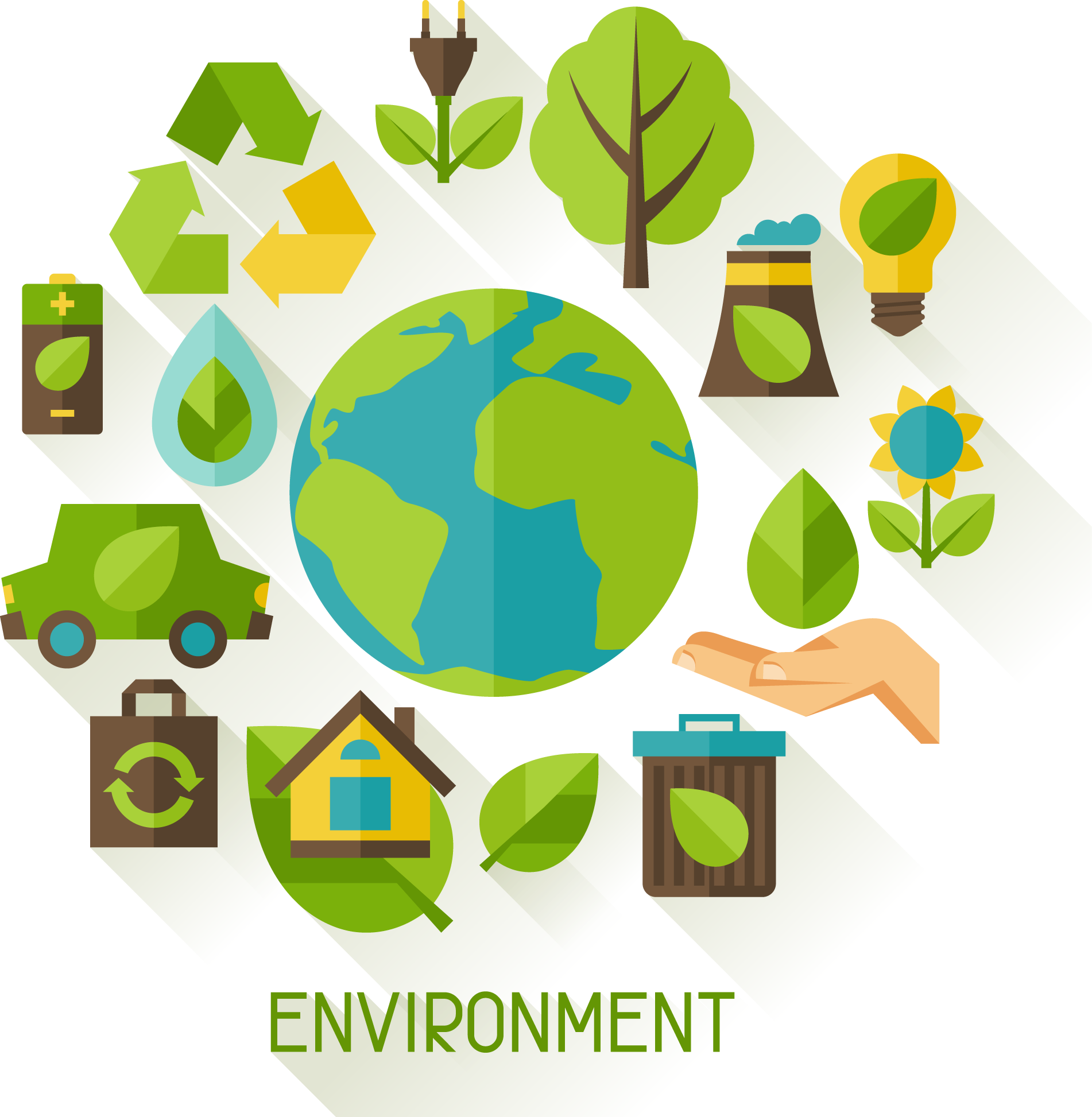 Environment vector infographic. Pollution ecology illustration calls