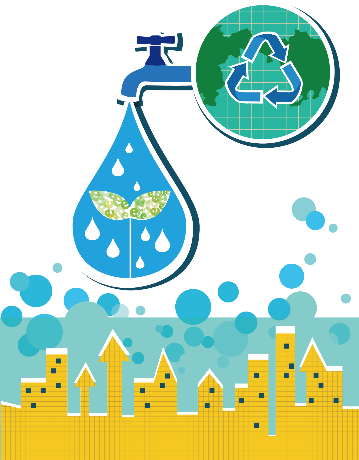 Environment vector infographic. Natural energy clean and