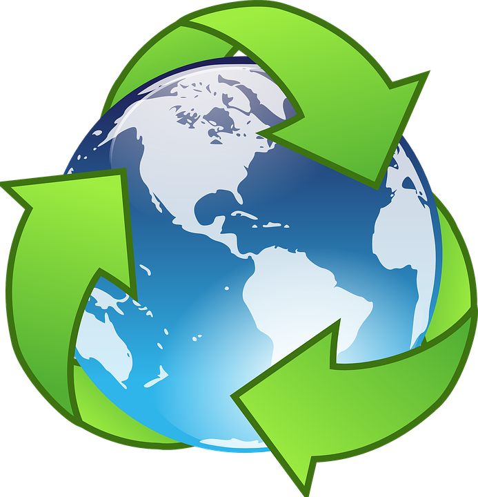 Environment vector sampah. Free photo earth green
