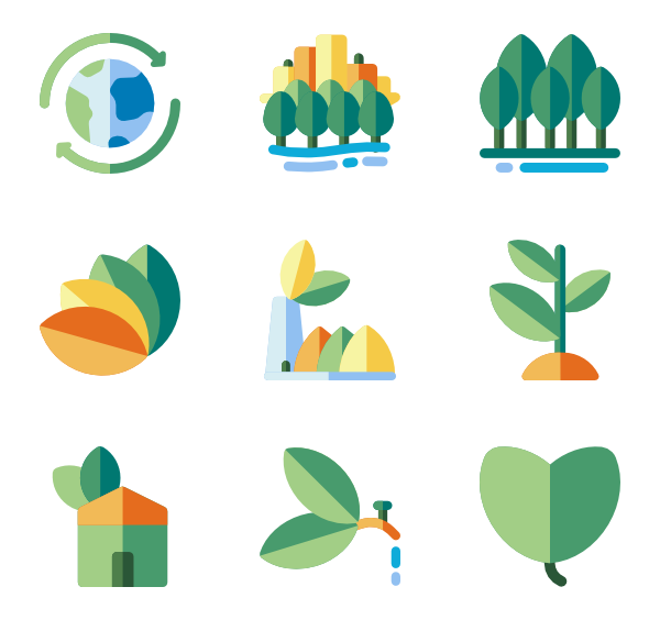 Environment vector. Natural world icon