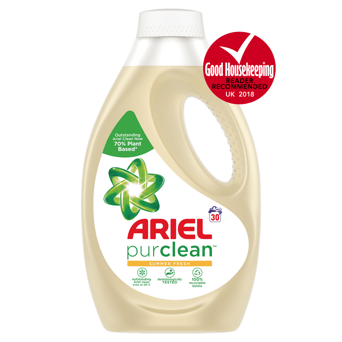 Enzyme drawing washing powder. Ariel purclean ingredients related