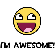 Epic smiley png. I m awesome face