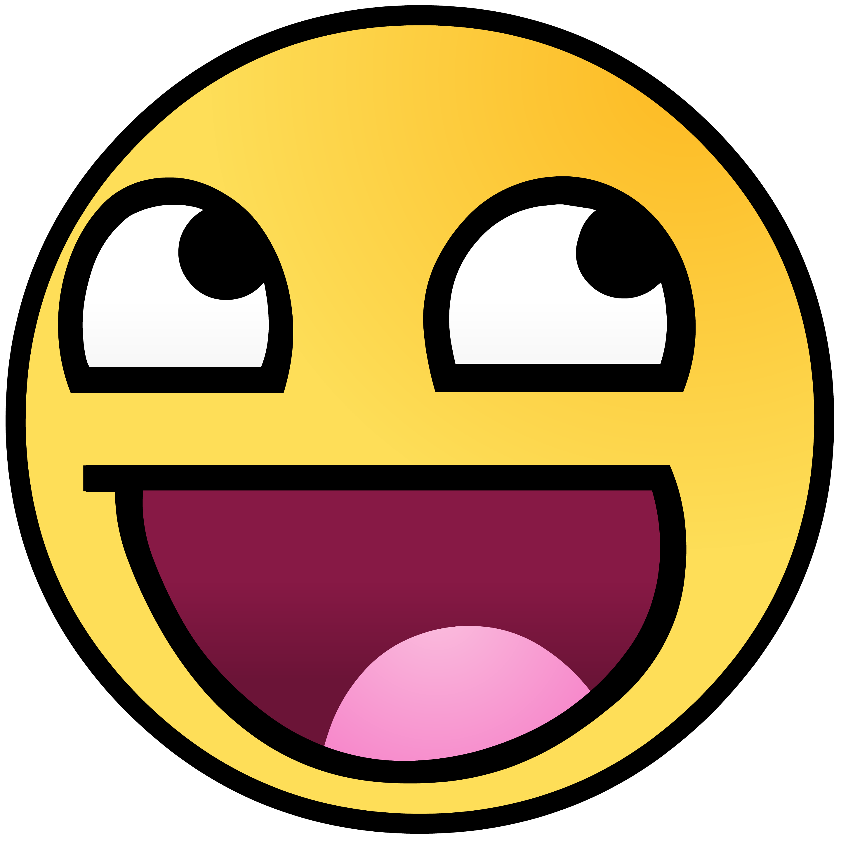 Epic smiley png. Original awesome face know