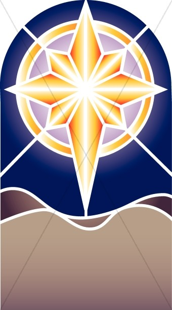 Epiphany clipart lord. Nativity star stained glass