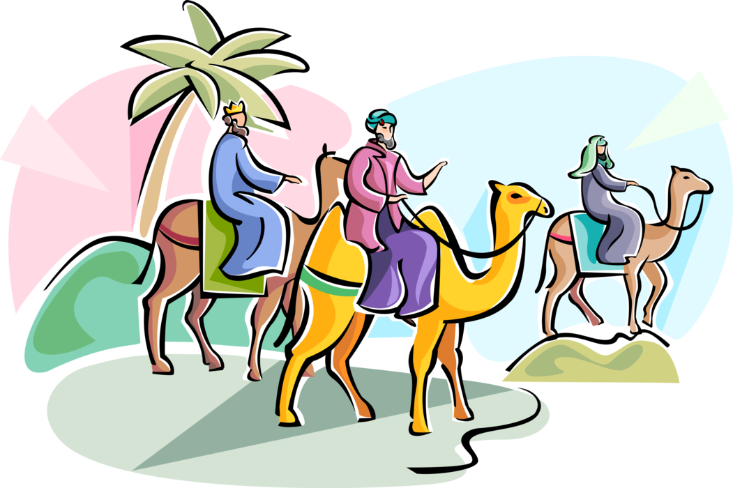 Epiphany clipart wise men. Three of vector image