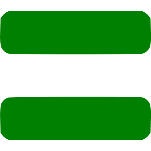 Equal clipart equal sign. Green equals