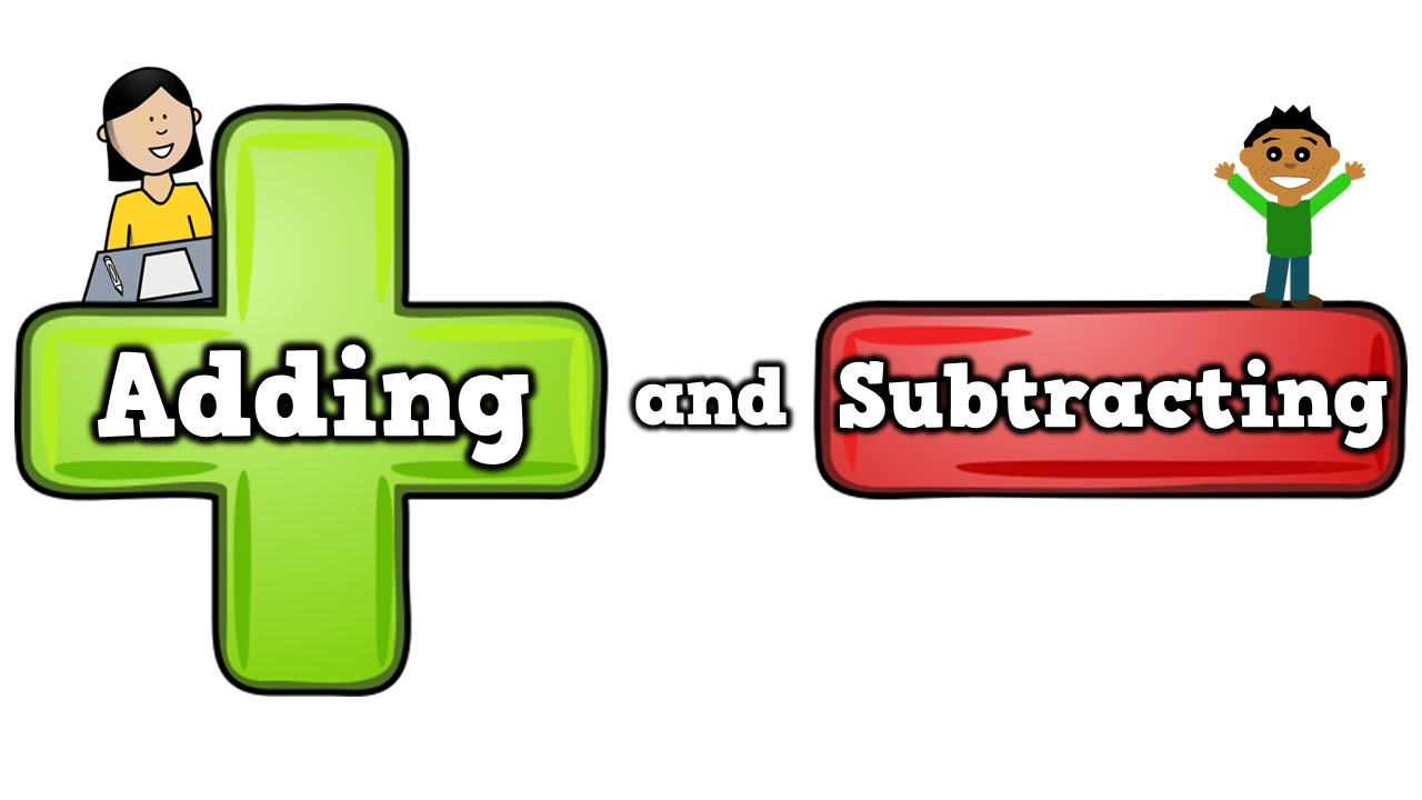 Equal clipart subtraction sign. Adding and subtracting song
