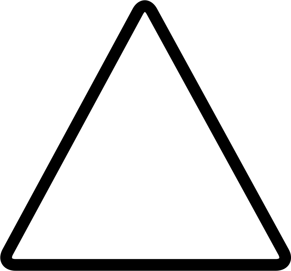 Triangle clip equilateral. Svg png icon free