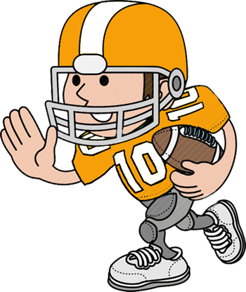 Football clipart linemen. Cartoon player
