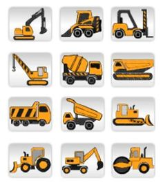 Equipment clipart building equipment. Construction vehicles set personal