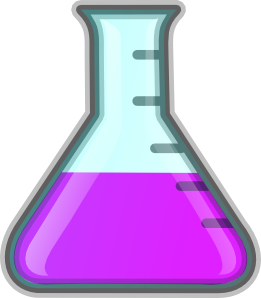 Flask drawing chemical apparatus. Laboratory clipart