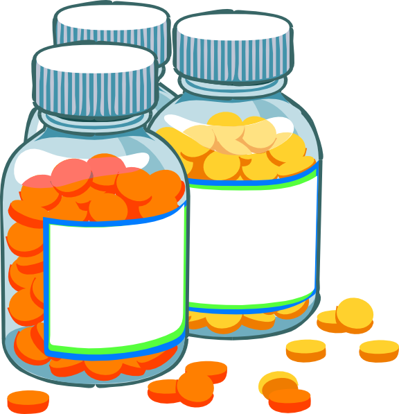 Equipment clipart medication. Blank medicine bottles clip