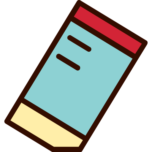 Eraser clipart rubber material. Education erasing stationery icon