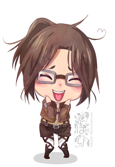 Eren drawing hanji. Chibi by tobari deviantart