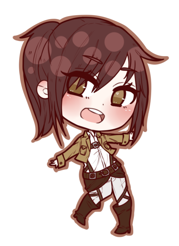 Eren drawing aot. Chibi sasha attack on