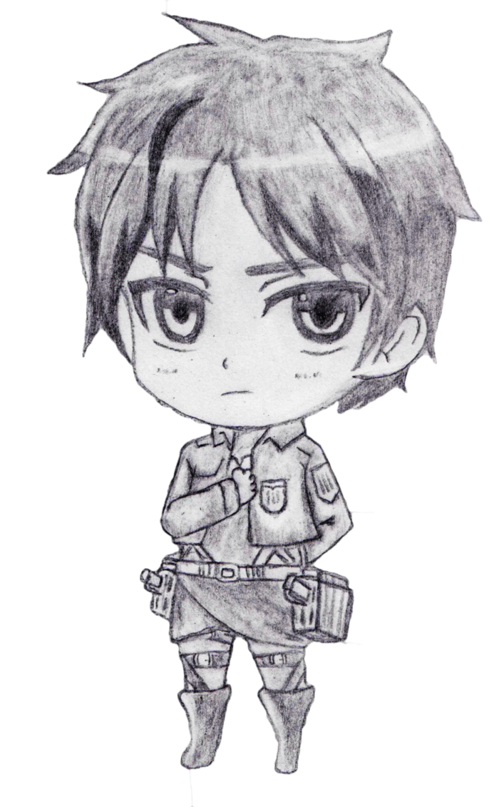 Eren drawing sketch. Jaeger attack on titan